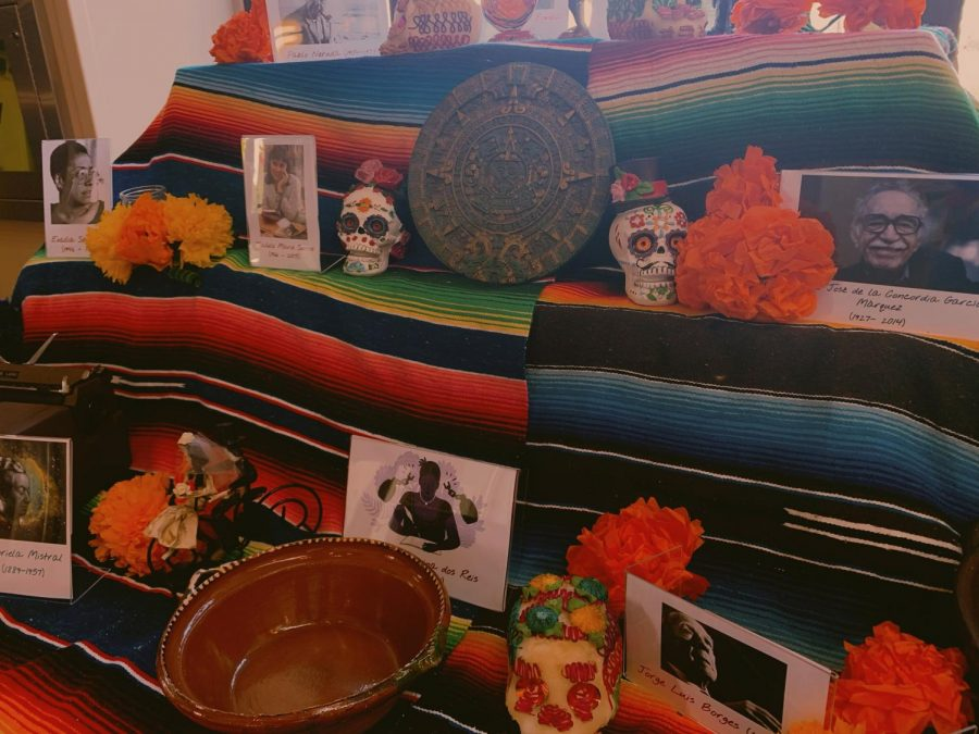 On a typical ofrenda (Day of the Dead altar), did you know that the main colors of floral decoration is white, yellow and purple? PC: Crystal Li '23