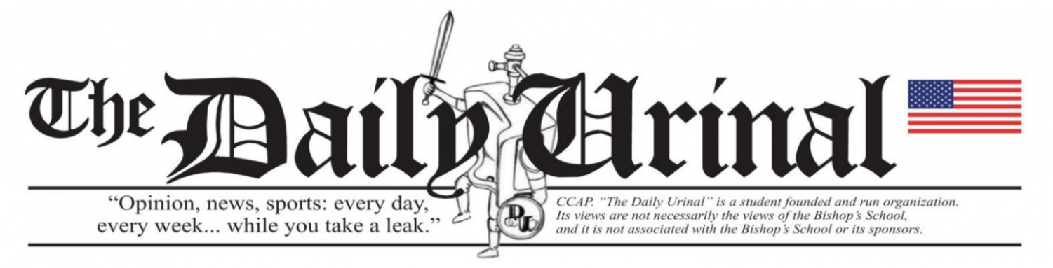 To keep with tradition and the publication's catchphrase, the Daily Urinal editors still post issues inside Bishop's restrooms.