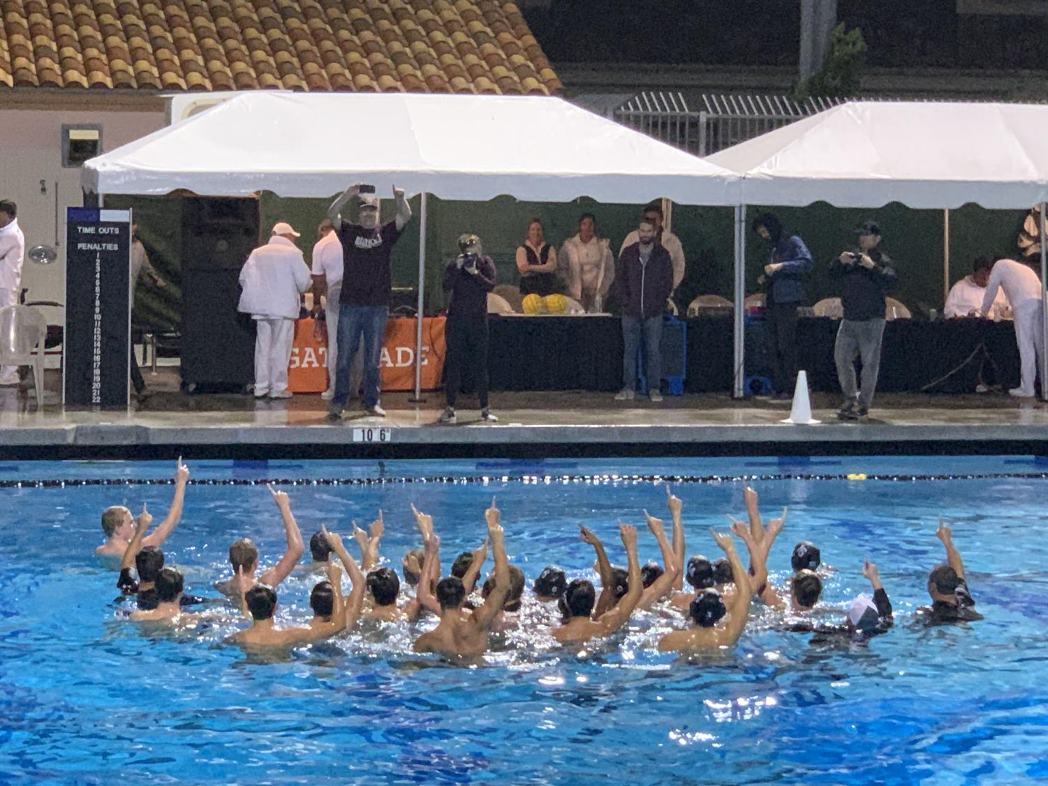 The triumphant Knight's jumped in the pool to celebrate their success. PC: Sepi Arrowsmith