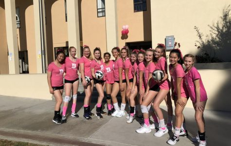 Bishop's Volleyball Digs Pink