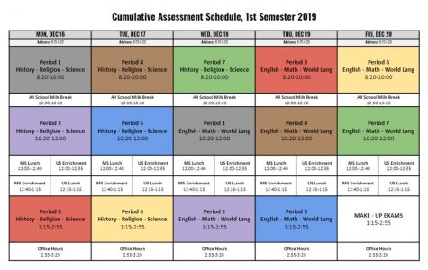 The cumulative week schedule.