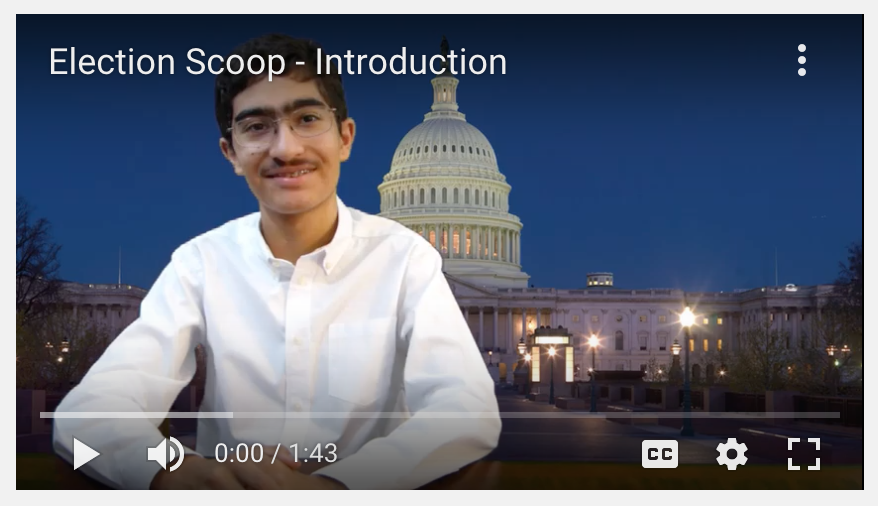 As of December 8, Yasha Kharrati's ('20) Election Scoop has 93 subscribers.