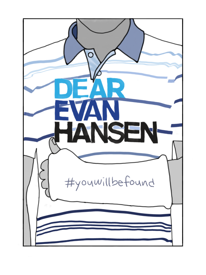 In Dear Evan Hansen, Evan, the main character, breaks his arm and the signatures on his cast represent how many friends he has.