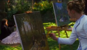 Amy, portrayed by Florence Pugh, paints during one of the scenes of Little Women. Blending a sometimes-endearing childishness with stark maturity and wit, Amy is just one of the many characters from Little Women which captivates audiences with her authenticity.  (PC: Vimeo.com)