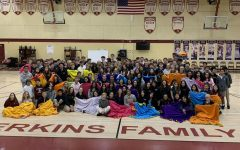 Students Make Blankets for Underprivileged Children