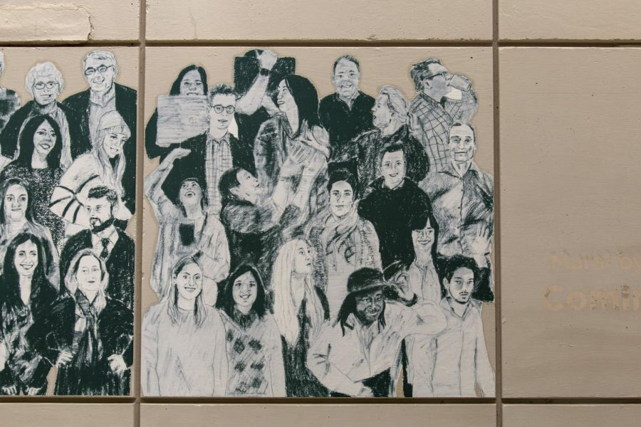 On the Wall: Ms. Emily Grenader's Art Installation