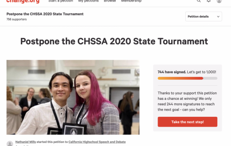 Many members of the Speech and Debate team have signed a petition asking the California High School Speech Association to postpone the state tournament rather than cancel it.