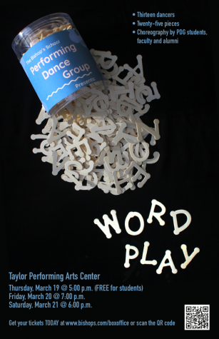 "The PDG showcase ""Word Play,"" a show centered around quotes and spoken word, has been postponed indefinitely."