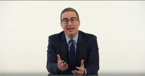 John Oliver filmed his show without a studio audience and with a limited set crew.