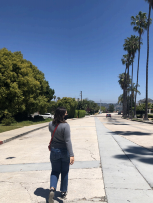 I recently went on a socially distanced walk with a friend, making sure to keep our distance while socializing.