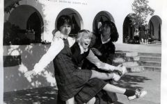 Three bishop's students pose in front of Bishops' Scripps Hall in the early 1980s. If any readers know who they are, contact us!