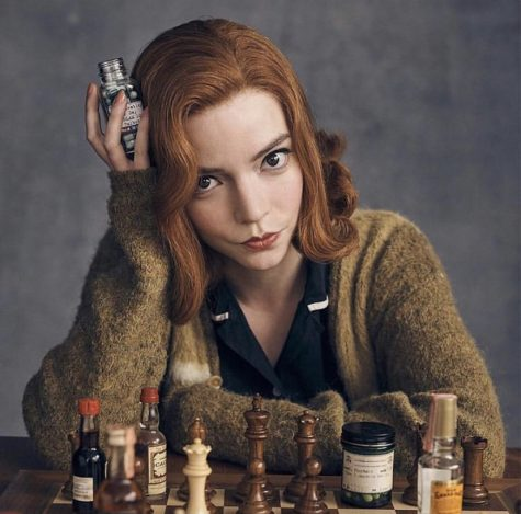 In The Queen's Gambit, main character Beth Harmon struggles with addiction as she rises into the international spotlight for her chess abilities.