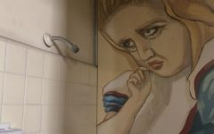 """The """"Alice Shower"""" is a familiar sight for students making their way to Bentham Hall's second floor."""